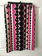 Womens Vince Camuto Pink White & Black Skirt Size S
