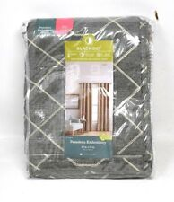 JCP Home Expressions Pasadena Blackout Grommet Window Curtains Panel Gray 50X72