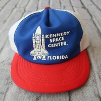 Vintage 90s Kennedy Space Center Florida Mesh Trucker Snapback Hat Cap