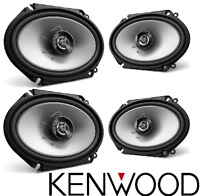 "4 x AUTHENTIC KENWOOD KFC-C6866S 6x8"" 2-WAY CAR COAXIAL SPEAKERS 500W KFC6866S"