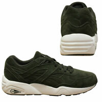 Puma Trinomic R698 Allover Suede Men Trainers Running Shoes Olive 359392 04 B24C