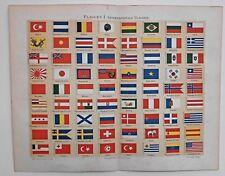 Flaggen, Fahnen, Signalflaggen, Internationale Flaggen. 2 Lithographien 1895