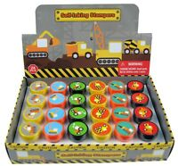 TINYMILLS 24 Pcs Construction Trucks Stampers for Kids