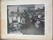 C. 1900 General Store Photograph Framed Picture The Alpine Store Dexter Iowa EUC