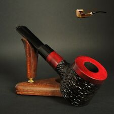 """HAND MADE UNIQUE WOODEN  TOBACCO SMOKING PIPE Poker   """" No 63 """"  Red"""