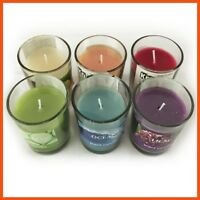 12 x ASSORTED SCENTED CANDLES | Clear Glass Wedding Votive Colourful Home Decor
