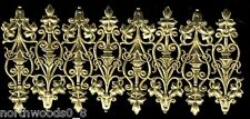 GERMAN DRESDEN ORNATE SCROLL FOIL EMBOSSED GOLD FILIGREE CARD SCRAP ORNAMENT