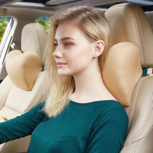 Car Seat Headrest Pillow Memory Foam Neck Support Office Head Cushion Pad