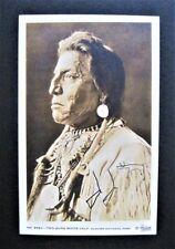 Chief John Two Guns White Calf Signed Real Photo Postcard Buffalo Nickel Icon