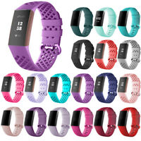 For Fitbit Charge 3 Watch Band Replacement Breathable Wristband Accessories S/L