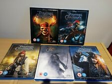 Pirates Of The Caribbean 1-5 Blu Ray UK Release w/ LIMITED EDITION Slip Covers