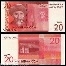 Kyrgyzstan 20 Som UNC  # 247