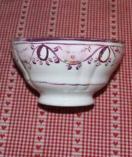 Victorian pink lustre bowl possibly sunderland gilted
