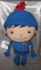 "RARE 2013 Big 24"" NICK JR Plush Fleecy Blue MIKE THE KNIGHT Pillow Pal Sewn Eyes"