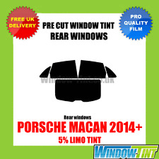PORSCHE MACAN 2014+ 5% LIMO REAR PRE CUT WINDOW TINT