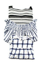 Zara Trafaluc Womens Casual Blouses Shirts Tops Cotton Size Medium Lot 3