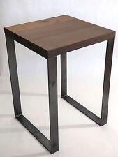 Hocker Nachttisch Beistelltisch Couchtisch Industriedesign Metall Stahl Holz