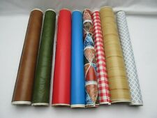 Vintage retro Fablon sticky back plastic roll off cuts for art/ crafts /cutting