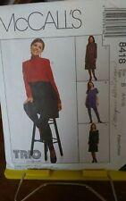 Oop Mccalls 8418 maternity dress stretch knit tunic leggings sz 8-12 UNCUT