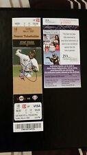 TIM LINCECUM SIGNED MLB DEBUT GAME JSA COA UNUSED SEASON TICKET STUB PROOF