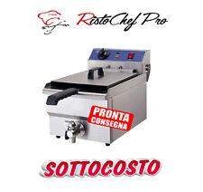 FRIGGITRICE ELETTRICA PROFESSIONALE SINGOLA ACCIAIO INOX DA BANCO 10 LITRI LT