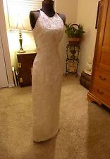 BEAUTIFUL VINTAGE 80's COLUMN WEDDING PROM PAGEANT DRESS
