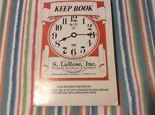 Vintage Keep Book 1982 No. 173. Clock Movements And Supplies