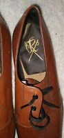 LEATHER MENS GOLF SHOES  SIZE 9.5 GOOD CONDITION. FREE POSTAGE