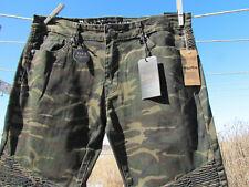 NEW RAW X camo moto jeans 34 x32 olive $68 green biker military stretch sexy hot