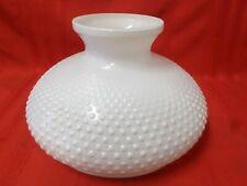 "Vintage Large Milk Glass Hobnail Hurricane Lamp Lighting Shade 9 3/4"" Base"