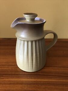 Vintage Handmade Pottery Jug Brown Ombre Colour Design Made In England