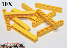 10X Lego® 32524 Technic Liftarme Beams 1X7 Gelb Yellow NEU