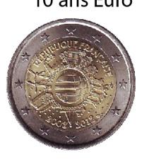 2 euro commémorative France 10 ans de l'euro 2012