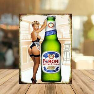 Peroni Sexy Beer Bottles Vintage Sign Metal Bar Pub Shed MAN CAVE home garden