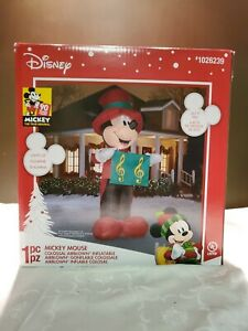 HUGE Disney Mickey Mouse Colossal Airblown 14.5 Ft /14' Inflatable Yard Music