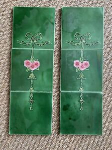 Salvaged Set Of Six Antique 19th/20th Tiles