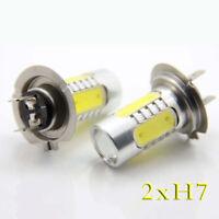 2X H7 LED Scheinwerfer COB Birnen Tagfahrlicht Lampen Leuchte 6000K Kaltweiß