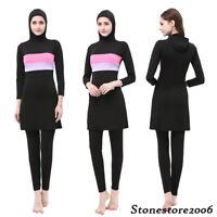 Full Cover Swimsuit Women Islamic Swimwear Burkini Muslim Modest Swimming Cloth