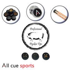 Professional Multi Layered Pigskin 11mm Snooker Cue Tips  S/Soft,  Soft, Medium