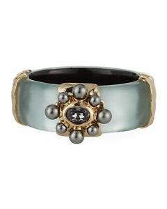 NWT Alexis Bittar Byzantine Pearl Floret Hinge Bracelet $345