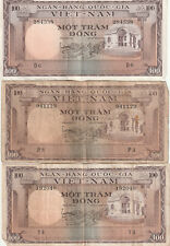 New listing 1964 - 1966 South Vietnam Currency - 100 Dong