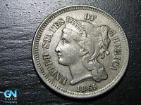 1865 3 Cent Nickel Piece  --  MAKE US AN OFFER!  #K0872