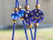 """Cobalt Blue/Celestial Lanyard~ID Badge~36""""~NEW~Misty's Miracle ~Buy 3 SHIP FREE"""