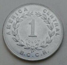 Costa Rica 1 Colon 1989(c). KM#210.2. Five Cents coin.  Slim 1. Mexico City mint