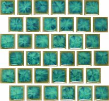 "Fujiwa Porcelain Swimming Pool Waterline Tile-TNT-033 AQUA MARINE 1"" X 1"" Pac 2"