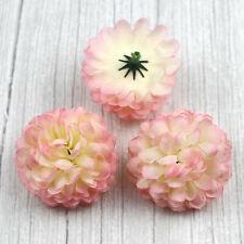 30pcs Daisy Silk Flowers Bulk Artificial Carnation Wedding Decoration Light Pink