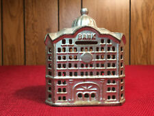 """Domed """"Bank"""" Cast Iron Bank 4 1/2"""" A.C. Williams USA 1899-1910's Near Mint"""