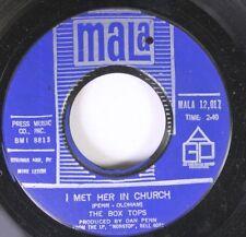 Rock 45 The Box Tops - I Met Her In Church / People Gonna Talk On Mala