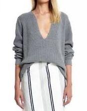V-Neck Medium Knit Solid 100% Cotton Jumpers & Cardigans for Women