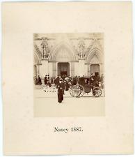 France, Nancy, sortie de messe à St Epvre, 1887 Vintage albumen print Tirage a